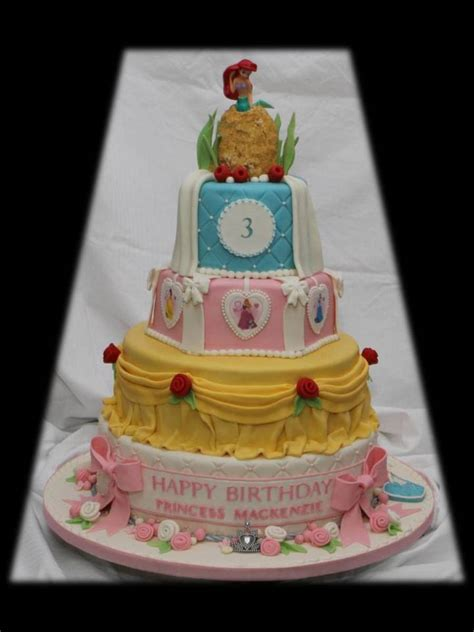 Princess Cake by Disney Princess Tiered Cake Cakecentral