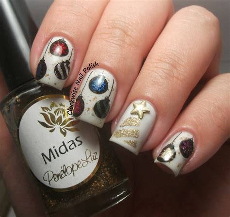tree nail ornament the clockwise nail merry 2014