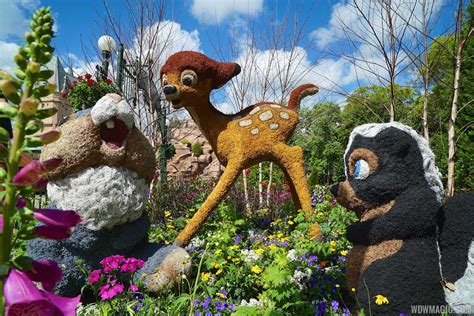 Epcot Flower Garden Festival 2016 Topiary Preview Wranger Flower And Garden Festival
