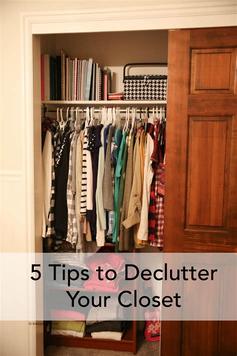 tips to declutter your closet