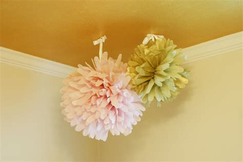 ceiling pom poms how to make tissue paper decor checking in with