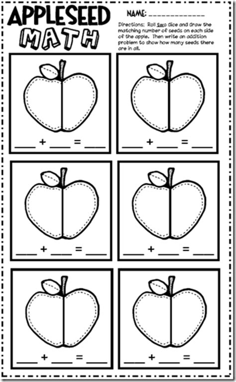 Apple Worksheets Grade by 6 Best Images Of Apple Math Printable Worksheets