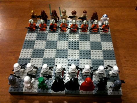 Lego Wars awesome wars lego chess set geektyrant