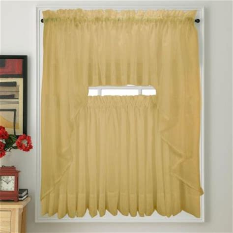 gold kitchen curtains elegance voile gold sheer curtain bedbathhome com