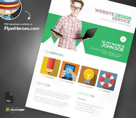 flyer design services 19 web flyer templates psd free eps format download