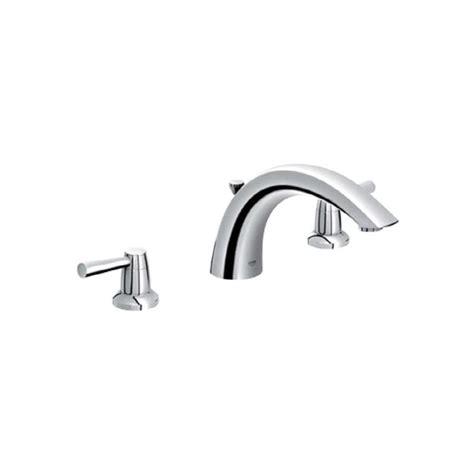 shop grohe arden chrome 2 handle adjustable deck mount bathtub faucet at lowes com shop grohe arden chrome 2 handle adjustable deck mount