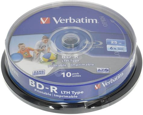 Sparepart Elektronik Bd 242 10pcs verbatim bd r lth 25 gb druckbare 10pcs cakebox media alza de