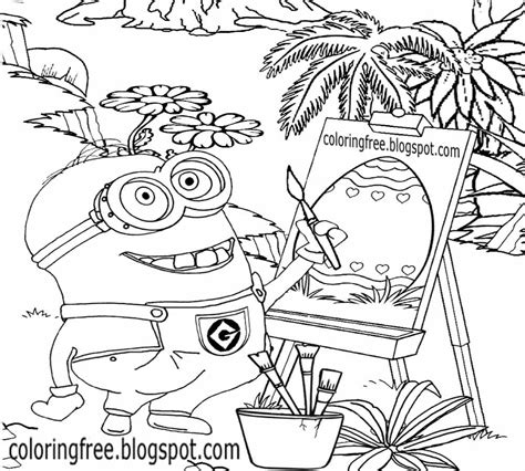 minion easter coloring page free coloring pages printable pictures to color kids
