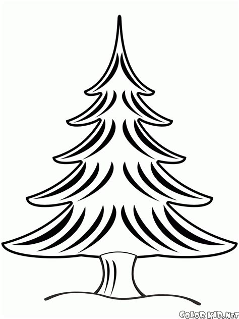 dibujo para colorear 193 rbol de navidad en invierno