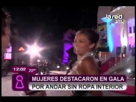 Mujeres Sin Nada De Ropa Youtube | mujeres destacaron en la gala por andar sin ropa interior