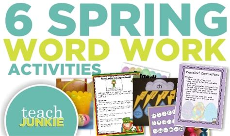 spring themed work events 6 spring ela word work activities free download teach