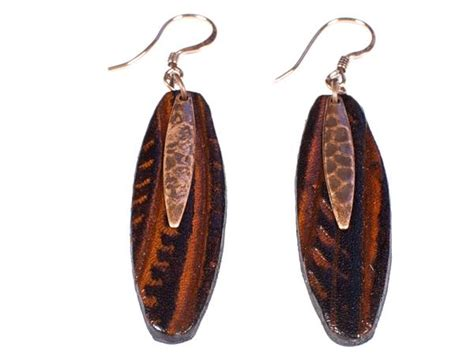 Handmade Leather Earrings - handmade quot birch tree quot leather earrings marakesh leather