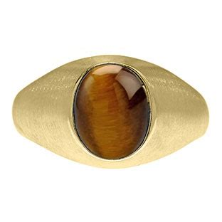 east west oval cut tiger eye yellow gold ring for