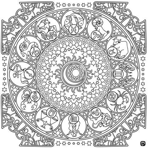 zodiac mandala coloring pages zodiac mandala coloring pages coloring page