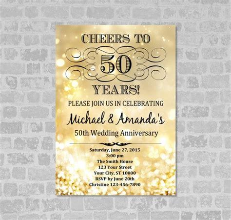 19 Sle Anniversary Invitations Sle Templates 50 Year Anniversary Invitations Templates