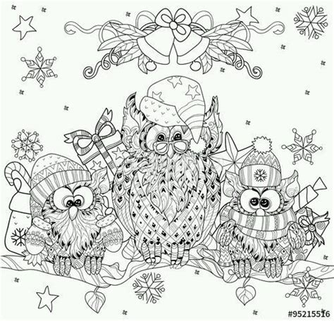 holiday owl coloring page 678 best images about coloring owls on pinterest