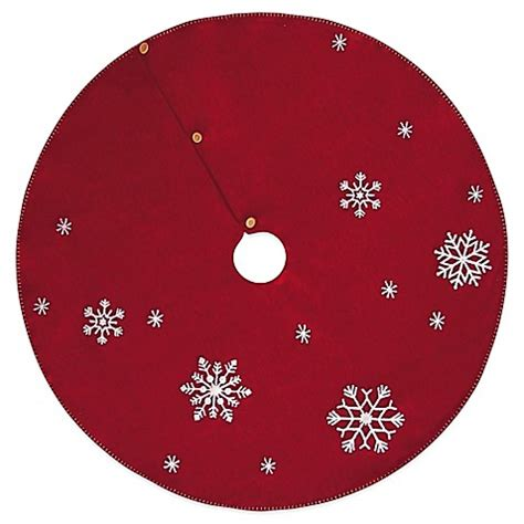 buy snowflake 45 inch christmas tree skirt from bed bath