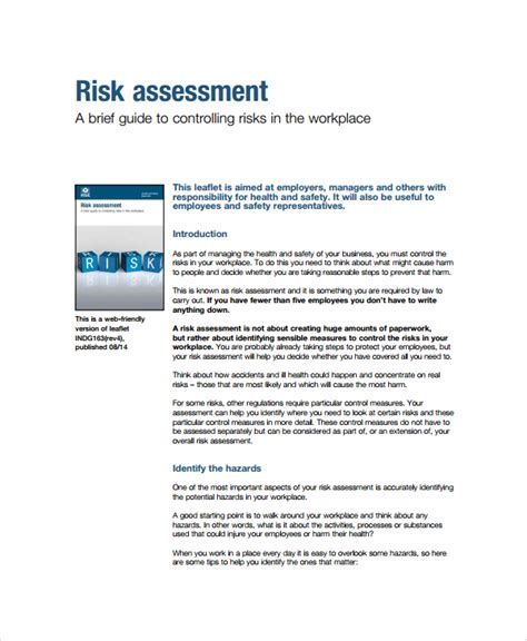 sle business risk assessment 7 documents in pdf word