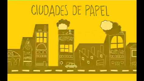 ciudades de papel 8415594674 booktrailer ciudades de papel john green books books youtube