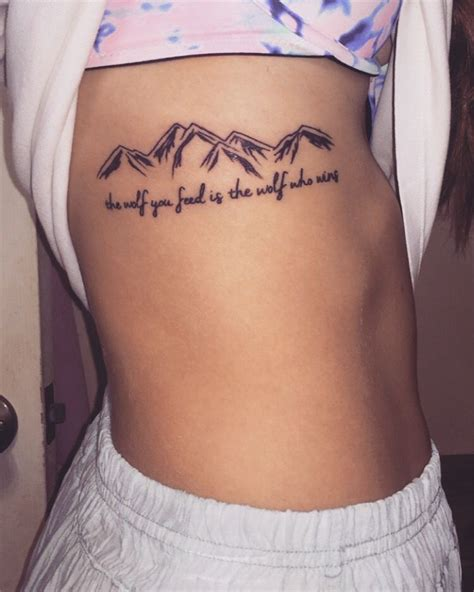 ex name tattoo quote mountain tattoos quote tattoos quot the wolf you feed is the