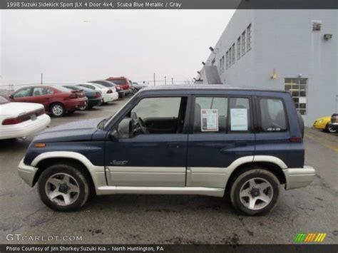 Suzuki Sidekick Sport 1998 1998 Suzuki Sidekick Sport Jlx 4 Door 4x4 In Scuba Blue