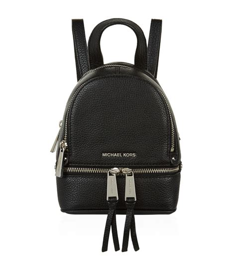 Tas Ransel Michael Kors Mk Rhea Mini Backpack Original lyst michael kors mini rhea zip backpack in black