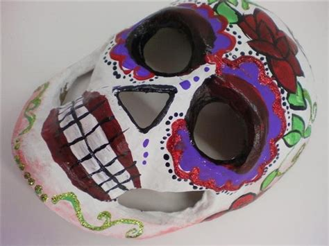 How To Make A Paper Mache Skull Mask - paper mache skull mask painted
