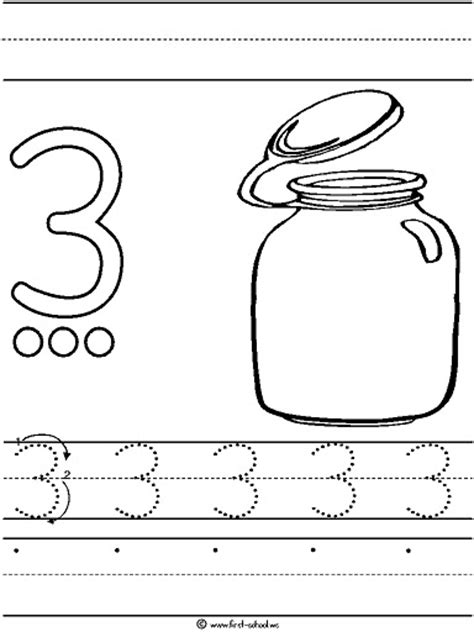 number 3 coloring pages preschool number 3 three tracing and coloring worksheets