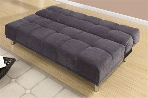 twin size sofa bed poundex f7010 grey twin size fabric sofa bed steal a