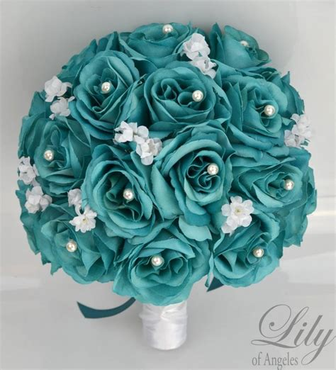 Artificial Silk Emerald Green 17 package bridal bouquet wedding bouquets silk
