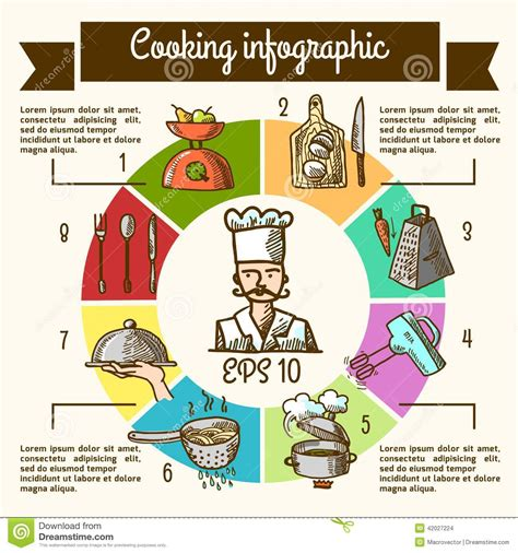 cooking infographics cooking infographic sketch stock vector image 42027224