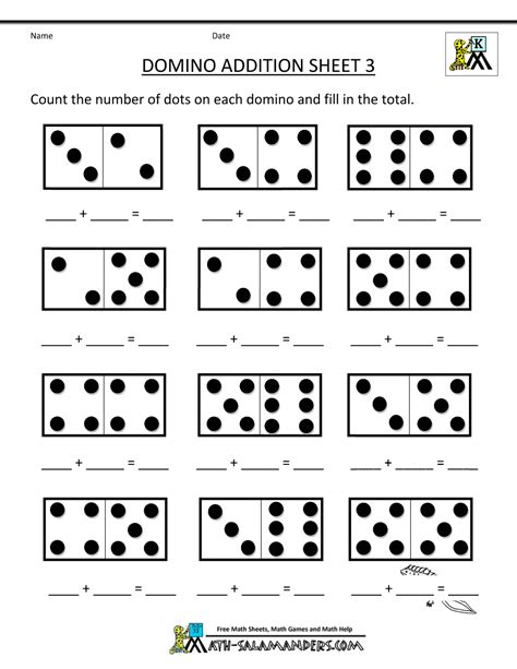 Math Worksheets For Preschoolers by Addition Math Worksheets For Kindergarten