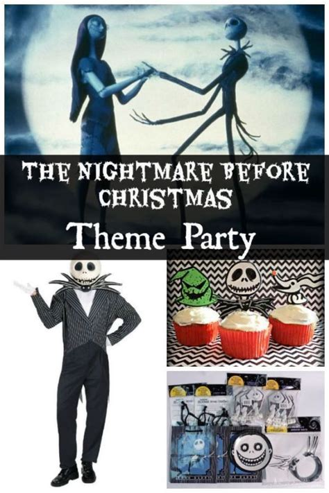 the nightmare before christmas theme party nightmare