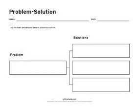 Problem Solution Outline by Problem Solution Graphic Organizer Brainpop Educators