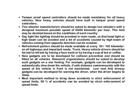 Importance Of Road Safety In India Essay by How To Prevent Road Accidents Road Safety Tips Road Safety Seminar