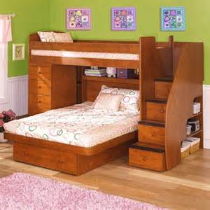 Twin over full l shaped bunk bed with chest amp stairs modern beds