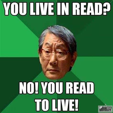 Indiana University Memes - read to live meme