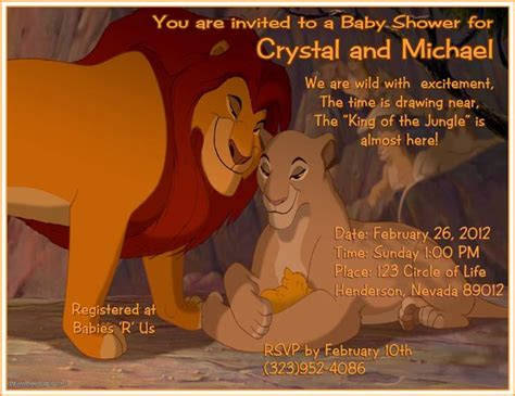lion king shower invitations printable