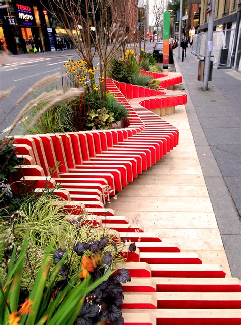 furniture design competition london wmbstudio installs bench micropark on busy london street