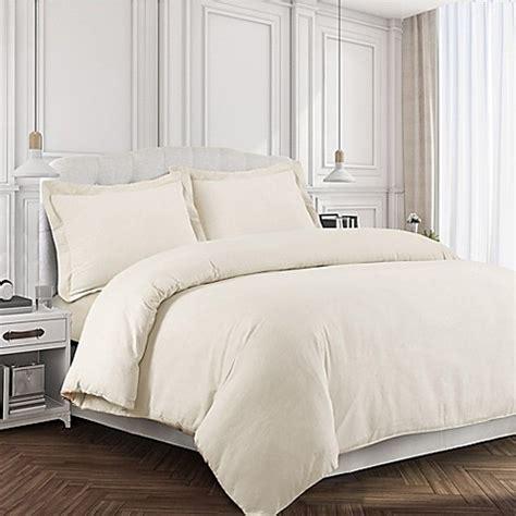 bed bath beyond tribeca tribeca living 170 gsm solid flannel duvet cover set bed