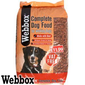 buy webbox kg complete dry dog food sack  home bargains