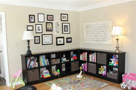 toy room storage toy storage in living room with l shape ideas home