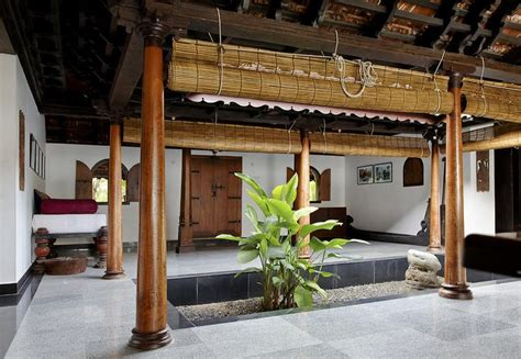 interior design of daylight courtyard in kerala b