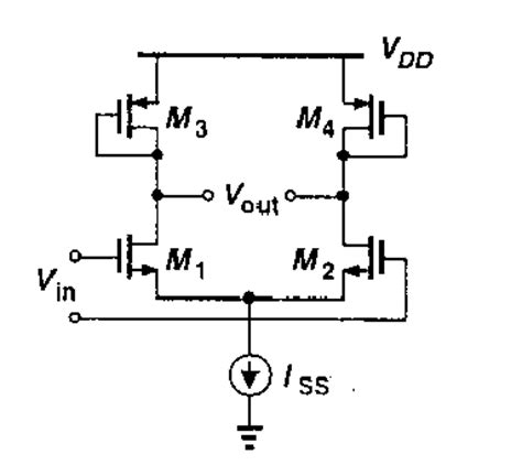diode connected output resistance minimum output voltage for this diode connected differential pair