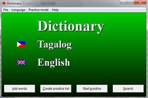 tagalog english dictionary free download full version free download pc application