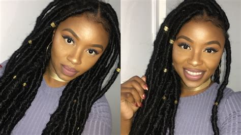 easy way to do faux marley locks easiest way to do faux locs protective style on my
