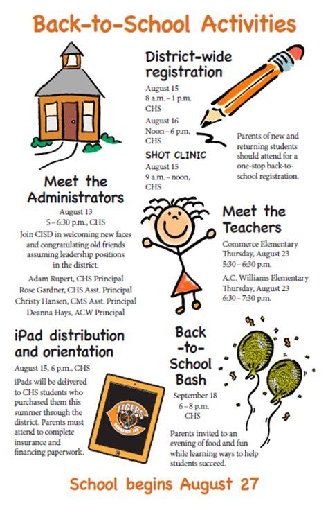 kindergarten activities back to school kilgore s kindergarten communicator back to school activities