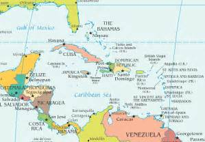 map of america and caribbean island caribbean islands map