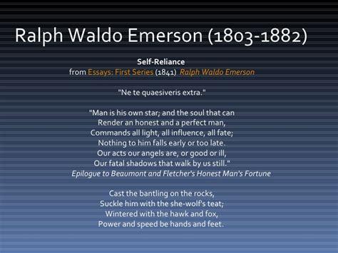 Self Reliance Essay Summary by Self Reliance Emerson Essay Summary Docoments Ojazlink