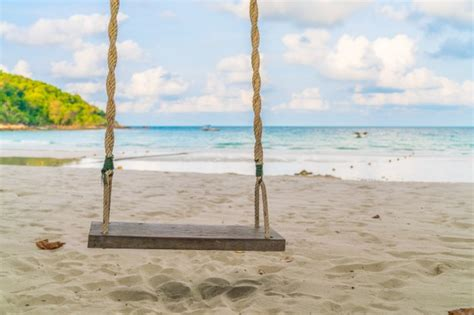 swing on the beach a swing on the beach photo free download